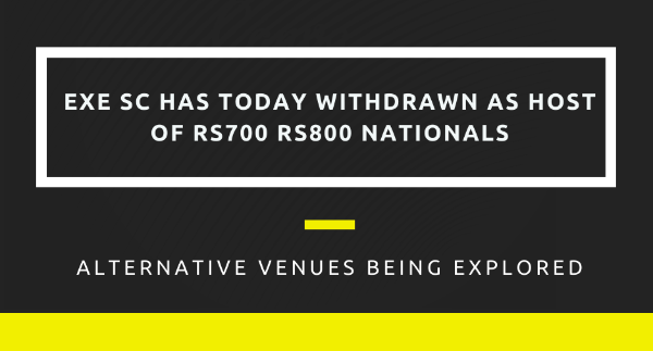 More information on RS700 RS800 Nationals' Host Exe Sailing Club Have Just Withdrawn