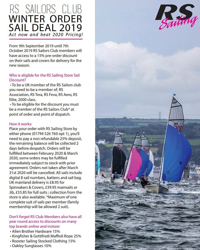 More information on Save 15% on sails and covers! Order by 7th October